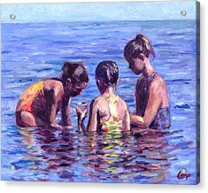 Water Nymphs Acrylic Print by Michael Camp