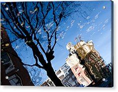 Water Reflection - Amsterdam  Acrylic Print by John Battaglino