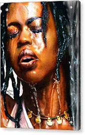 Water Rights Of Hill Acrylic Print by Reggie Duffie