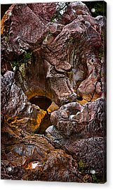 Water Sculpted Acrylic Print by Christopher Holmes