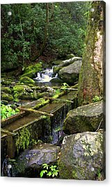 Water Sluice  Acrylic Print by Marty Koch