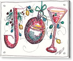 Watercolor Christmas Notecard Acrylic Print by Michele Hollister - for Nancy Asbell