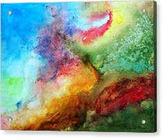 Watercolor Collage Acrylic Print by Jamie Frier