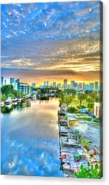 Watercolor Dawn Acrylic Print by William Wetmore