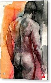 Watercolor Study 5 Acrylic Print by Chris Lopez