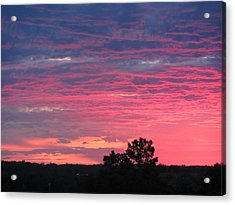Watercolor Sunset Acrylic Print by Jerry Browning