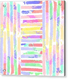 Watercolour Abstract Strips 3 Acrylic Print by Keshava Shukla