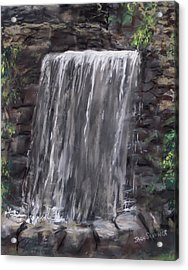 Waterfall At Longfellow's Gristmill Acrylic Print by Jack Skinner