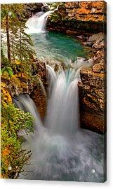Waterfall Canyon Acrylic Print by Scott Mahon