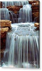 Waterfall Acrylic Print by Elena Elisseeva
