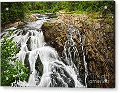 Waterfall In Wilderness Acrylic Print by Elena Elisseeva