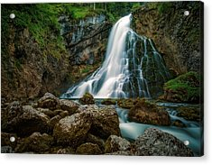 Waterfall Acrylic Print by Martin Podt