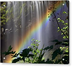 Waterfall Rainbow Acrylic Print by Marty Koch