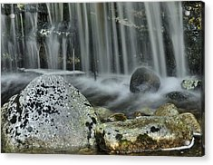 Waterfall Ribbons Acrylic Print by Stephen  Vecchiotti