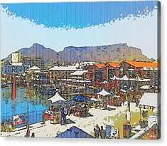 Waterfront And Table Mountain Acrylic Print by Jan Hattingh