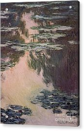Waterlilies With Weeping Willows Acrylic Print by Claude Monet
