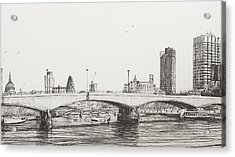 Waterloo Bridge Acrylic Print by Vincent Alexander Booth