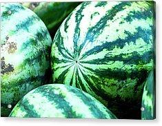 Watermelon Love Acrylic Print by Teri Virbickis