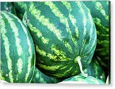 Watermelon Yum Acrylic Print by Teri Virbickis