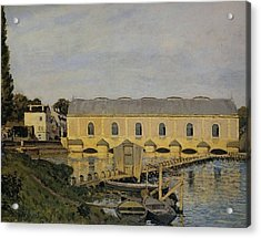 Waterworks At Bougival Acrylic Print by MotionAge Designs