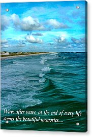 Wave After Wave Acrylic Print by Julie Dant