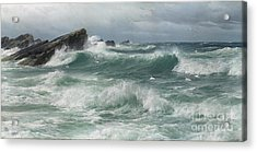 Waves Breaking On A Rocky Coast Acrylic Print by Celestial Images