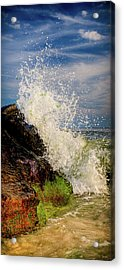 Waves Acrylic Print by David Hahn