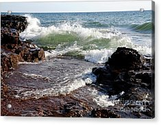 Waves Of November Acrylic Print by Sandra Updyke