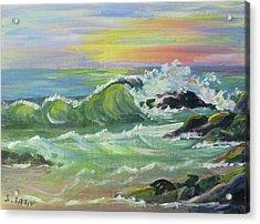 Waves Acrylic Print by Saga Sabin