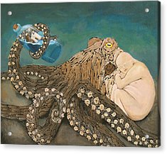 We Are The Kraken Of Our Own Sinking Ships Acrylic Print by David  Nixon