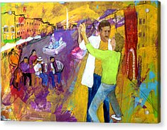 We Tangoed On The Piazza Navono Acrylic Print by Keith Thue