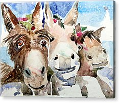 We Three Wise Asses Acrylic Print by Mindy Newman