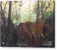 We Two Acrylic Print by Trilby Cole