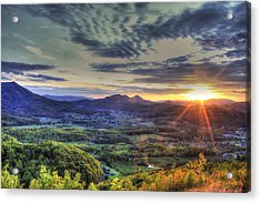 Wears Valley Tennessee Sunset Acrylic Print by Reid Callaway