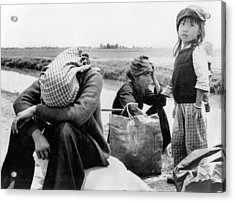 Weary Vietnamese Refugees Acrylic Print by Underwood Archives
