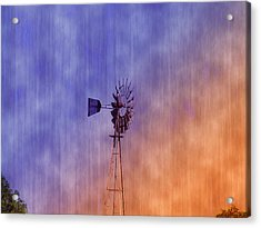 Weather Vane Sunset Acrylic Print by Bill Cannon
