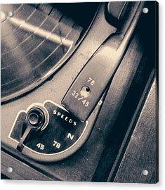 Webcor Musicale Phonograph Acrylic Print by Jon Woodhams