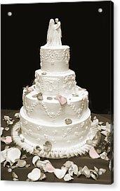 Wedding Cake Petals Acrylic Print by Marilyn Hunt