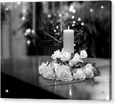 Wedding Candle Acrylic Print by Tom Mc Nemar