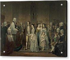 Wedding Of George Washington And Martha Acrylic Print by Everett