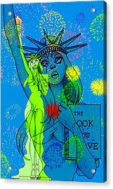 Weeping Liberty Acrylic Print by Lynn Rider