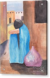 Weeping Woman  Acrylic Print by Susan Kubes