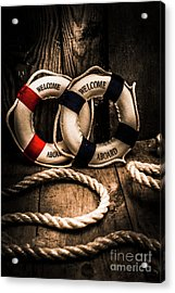 Welcome Aboard The Dark Cruise Line Acrylic Print by Jorgo Photography - Wall Art Gallery
