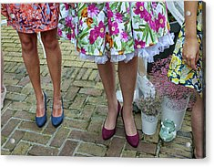 Welcome Committee Of Girls Acrylic Print by Patricia Hofmeester