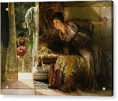 Welcome Footsteps Acrylic Print by Sir Lawrence Alma-Tadema
