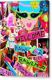 Welcome Hon Acrylic Print by Debbi Granruth