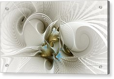 Welcome To The Second Floor-fractal Art Acrylic Print by Karin Kuhlmann