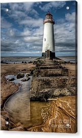 Welsh Lighthouse  Acrylic Print by Adrian Evans