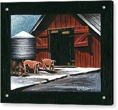 Wenger Barn Acrylic Print by Carol Wilson