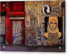 West Village Wall Nyc Acrylic Print by Chris Lord